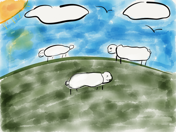Are you sheep on a hill grazing on others' thoughts?